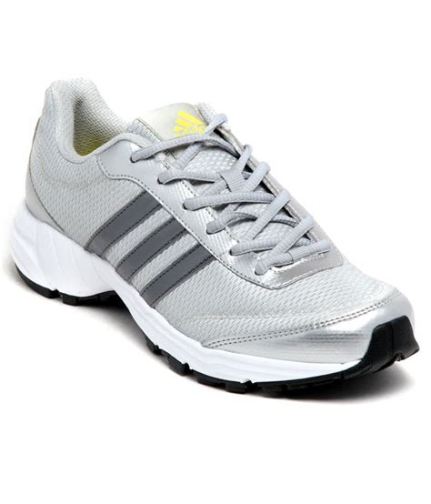 stylish sports shoes for adidas stylish silver sports shoes with lace up closure