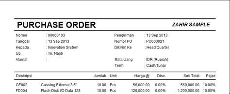 contoh surat order pembelian wisata dan info sumbar