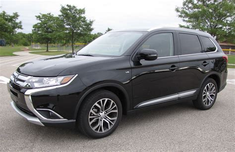 mitsubishi outlander 2016 black 2016 mitsubishi outlander 3 0 gt s awc savage on wheels