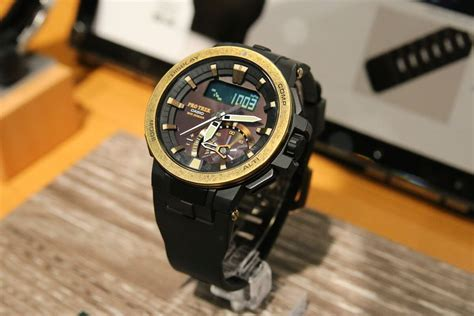 G Shock Protreck Black Gold casio pro trek prw 7000v 1 with vintage gold bezel g