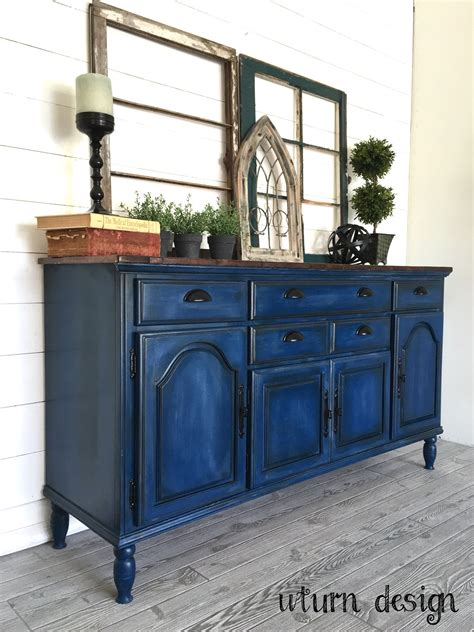 blue buffet ideas navy blue buffet with planked top by uturn design