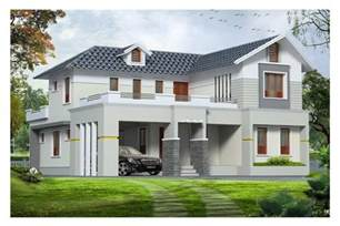 House Design Sle Pictures | western style exterior house design kerala at 1890 sq ft