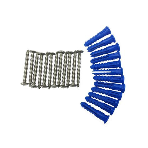 Triton Products 12 Steel Screws And 12 Plastic Wall