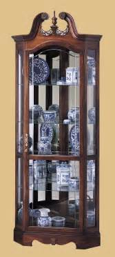 Curio Cabinets For Corners Howard Miller Berkshire Cherry Wood Corner Curio Cabinet