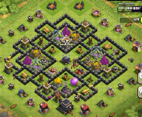 layout coc th9 coc th9 farming base quotes