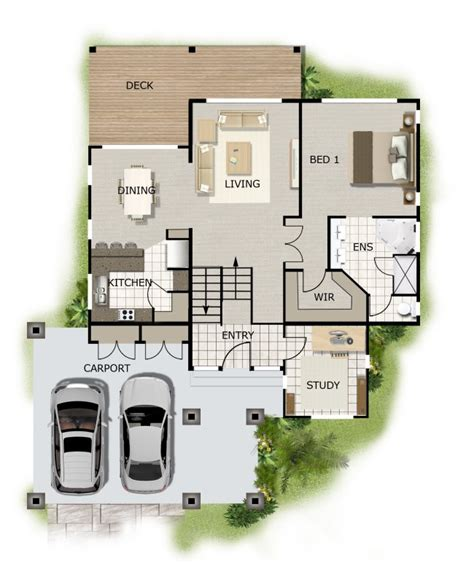 free home plans sloping land house plans 4 bedroom study sloping land house kit home design