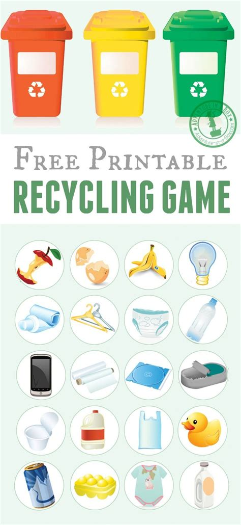 printable recycling recycling free printable
