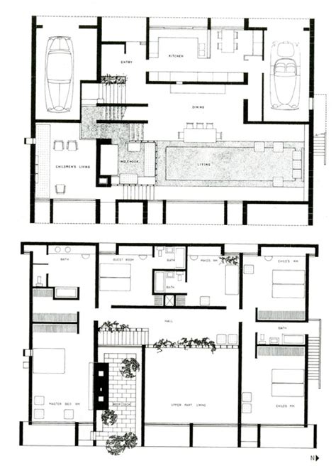 adhouse plans ad classics milam residence paul rudolph archdaily
