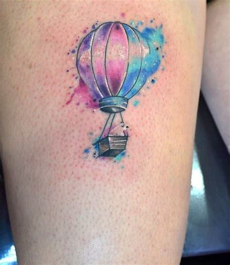 watercolor tattoo que es collection of 25 watercolor air balloon