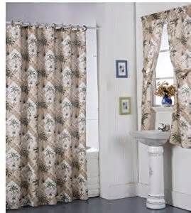 shower curtains with matching window curtains palm tree shower curtain matching rings and