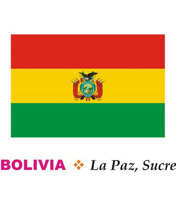 bolivia flag coloring pages for kids to color and print