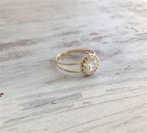 gold ring wedding ring stacking ring vintage ring