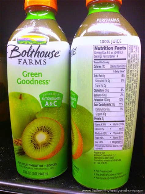 Bolthouse Farms Green Goodess Fruit Smoothie   The Healthy Family and Home