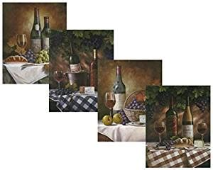 classy kitchen grape decor amazon com set of 4 classy wine bottles grapes gourmet