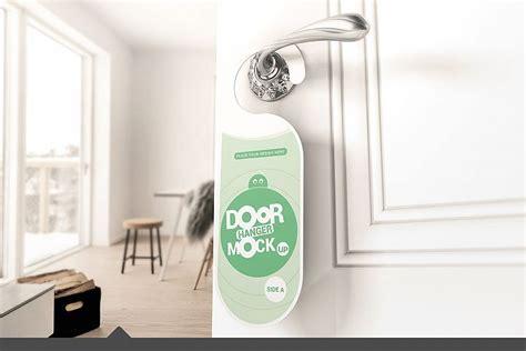 door hanger mockups  products design bundles
