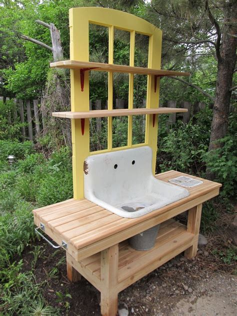 corner potting bench 132 best images about potting benches and outdoor sinks on