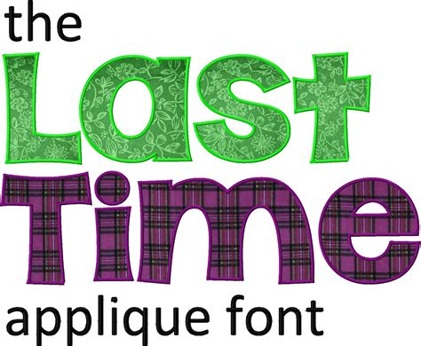 free printable applique fonts the last time machine applique font daily embroidery