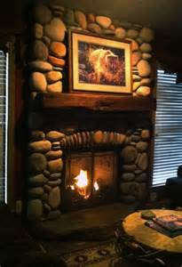 rustic fireplaces design idea the rustic lodge look gas fireplace