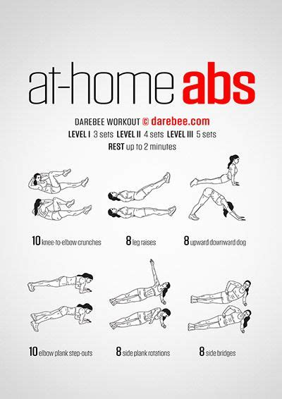 darebee workouts abs workout  women ab workout  home  home abs