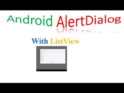android alertdialog android alertdialog with listview