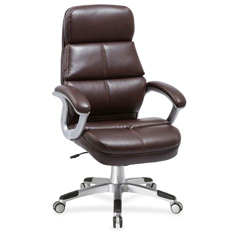 bonded leather chair cracking lorell brown bonded leather high back chair bonded