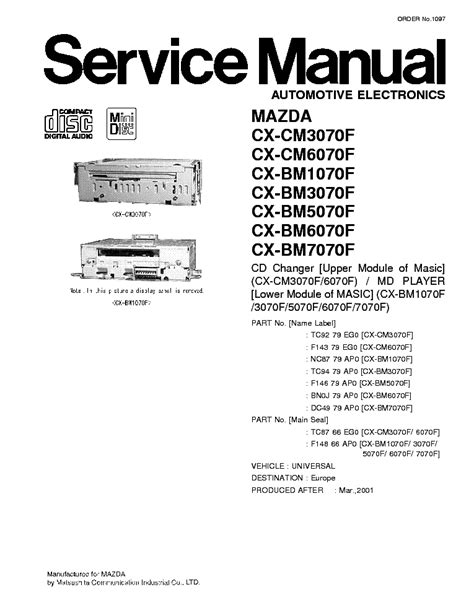 car repair manuals online pdf 2009 mazda cx 7 electronic throttle control panasonic cq c8413u c8313u car audio service manual free download schematics eeprom repair