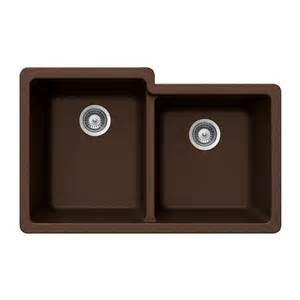 Houzer Kitchen Sinks Shop Houzer 21 In X 33 In Copper Basin Granite Undermount Residential Kitchen Sink At