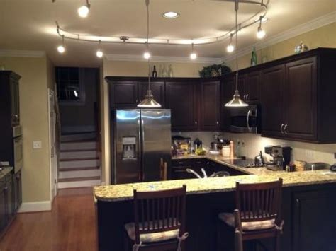 Kitchen Track Light An Easy Kitchen Update With Pendant Track Lights Home Kitchen Lighting Galleries