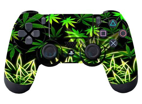 ps4 controller green light green leaf skin for ps4 controller playstation 4