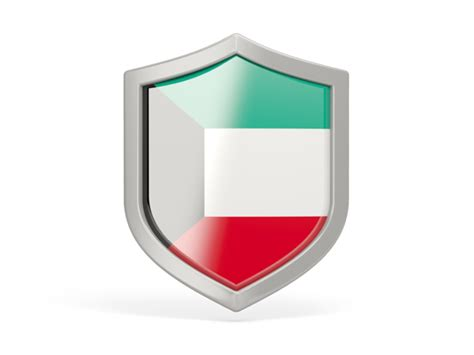 icon design kuwait shield icon illustration of flag of kuwait
