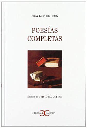 libro poesias castellanas completas ficha libro castalia