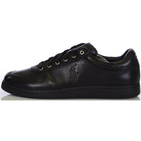 black leather shoes ralph shoes hernando black burnished leather