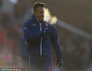 alexis sanchez gloves premier league match reports arsenal crash at stoke as