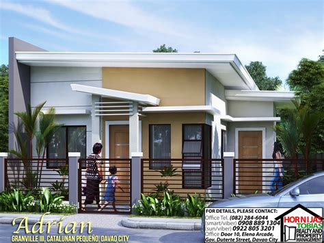 Small 1 Story House Plans adrian house and lot package in granville iii davao