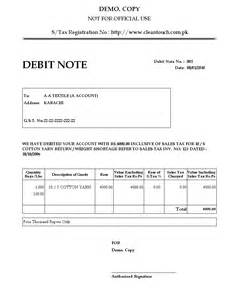 5 debit note form absence notes