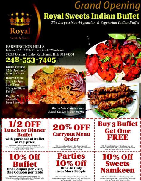 grand opening royal indian buffet farmington