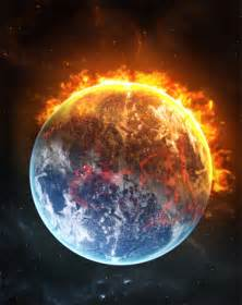 Theearth cleansed by the lake of fire recreated by the loving hand