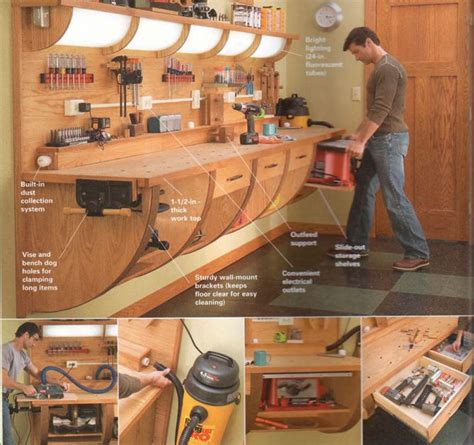 garage shop designs 1000 ideas about garage workbench on pinterest