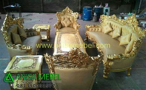 Jual Sofa Ukir Bekas kursi sofa tamu ukir mewah gold anisa mebel furniture