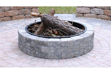 pit ring insert fireplace design ideas