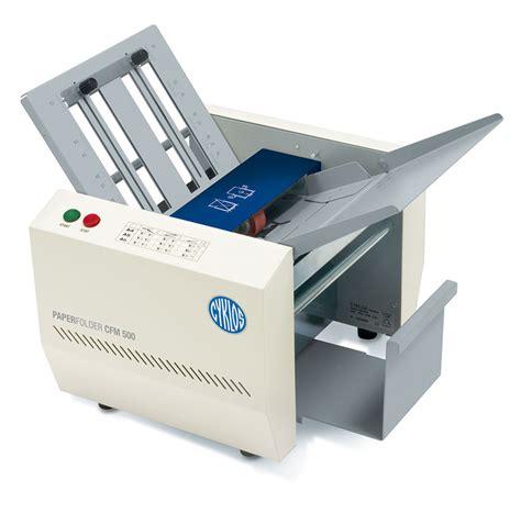 A4 Paper Folding Machine - cyklos folding machine cfm 500 a4 southern print