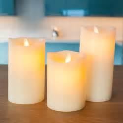 Home Christmas Decorations Pinterest 3 Ivory Wax Dancing Flame Battery Pillar Candles