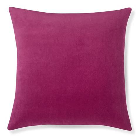 Velvet Pillow by Velvet Pillow Cover Sangria Williams Sonoma