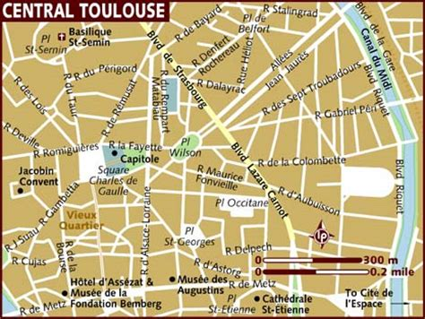 map of toulouse map of toulouse