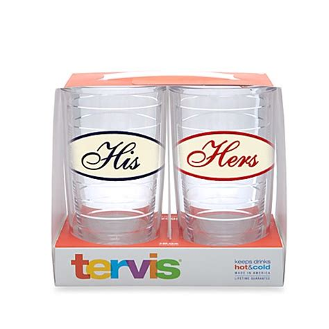 bed bath and beyond tumblers tervis 174 his and hers 16 ounce tumblers set of 2 bed
