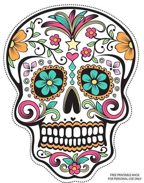 printable masks for day of the dead free printable sugar skull day of the dead mask free free