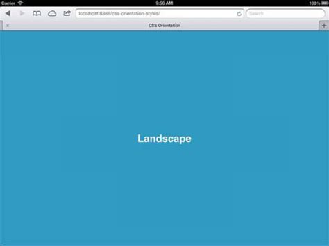Landscape Orientation Ui Design Applying Css Based On Screen Orientation Hongkiat