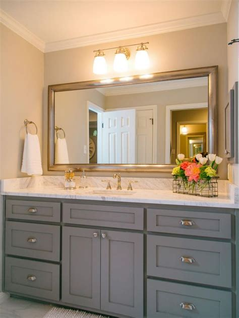 cabinets chip and joanna gaines and gray bathrooms on