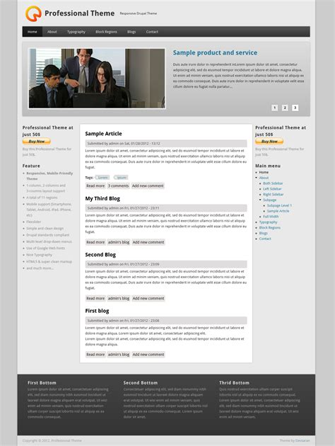 drupal theme exle sites professional theme drupal org