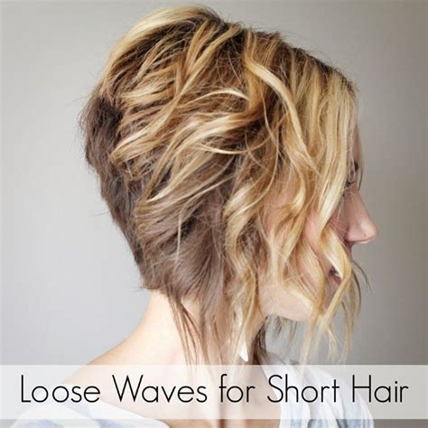 hair how to loosen perm how to curl loose waves with a flat iron on short hair